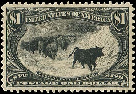 Costs of US Stamps Scott Cat. # 292: 1898 US$1.00 Trans Mississippi Exposition. Regency-Superior, Aug 2015, Sale 112, Lot 616