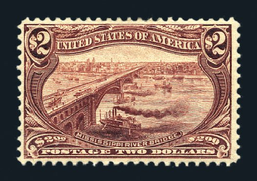 Prices of US Stamp Scott Catalogue 293: 1898 US$2.00 Trans Mississippi Exposition. Harmer-Schau Auction Galleries, Aug 2015, Sale 106, Lot 1719