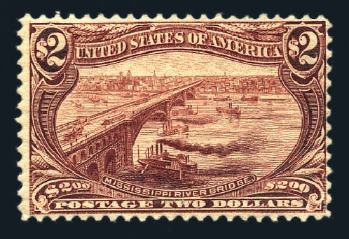 US Stamp Price Scott Catalog 293: US$2.00 1898 Trans Mississippi Exposition. Harmer-Schau Auction Galleries, Aug 2015, Sale 106, Lot 1720