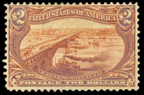 US Stamps Value Scott 293: US$2.00 1898 Trans Mississippi Exposition. Daniel Kelleher Auctions, Aug 2015, Sale 672, Lot 2594