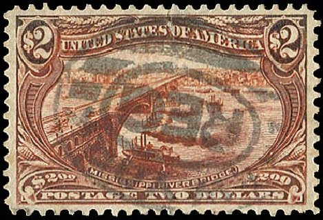 Costs of US Stamps Scott # 293 - 1898 US$2.00 Trans Mississippi Exposition. Regency-Superior, Aug 2015, Sale 112, Lot 624