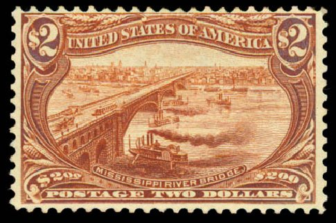 Price of US Stamp Scott #293: US$2.00 1898 Trans Mississippi Exposition. Daniel Kelleher Auctions, Aug 2015, Sale 672, Lot 2595