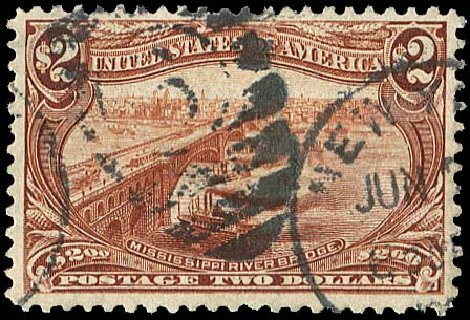US Stamps Value Scott # 293: US$2.00 1898 Trans Mississippi Exposition. Regency-Superior, Aug 2015, Sale 112, Lot 623