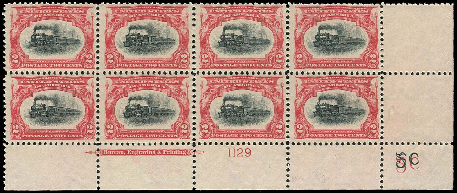 US Stamp Values Scott Catalog 295 - 2c 1901 Pan American Exposition. Regency-Superior, Jan 2015, Sale 109, Lot 1609