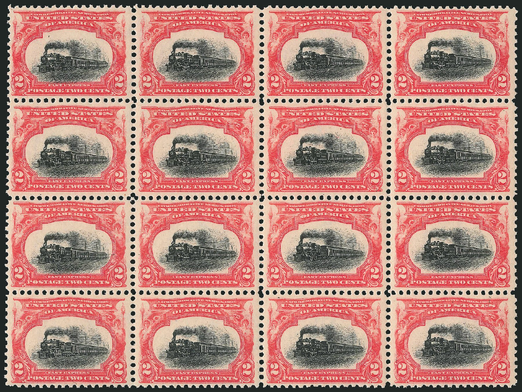 Prices of US Stamps Scott # 295 - 2c 1901 Pan American Exposition. Robert Siegel Auction Galleries, Dec 2014, Sale 1090, Lot 1429