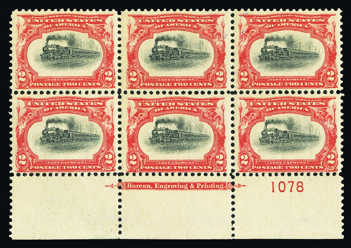 US Stamp Values Scott Catalog 295 - 1901 2c Pan American Exposition. Cherrystone Auctions, Jul 2015, Sale 201507, Lot 2100