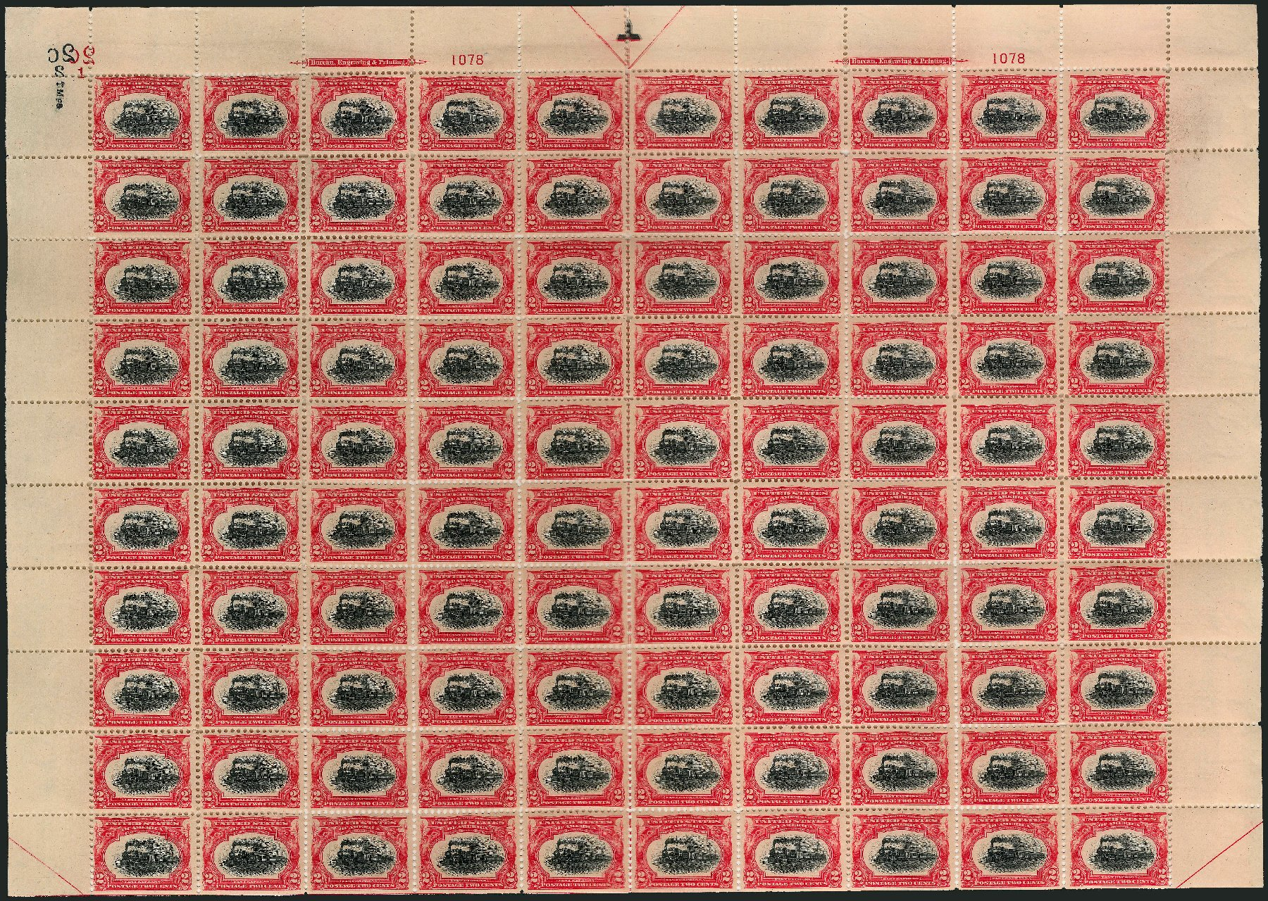 US Stamps Value Scott 295 - 2c 1901 Pan American Exposition. Robert Siegel Auction Galleries, Feb 2015, Sale 1092, Lot 1251