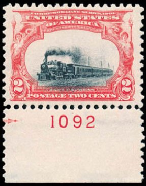 US Stamp Price Scott 295 - 1901 2c Pan American Exposition. Schuyler J. Rumsey Philatelic Auctions, Apr 2015, Sale 60, Lot 2772