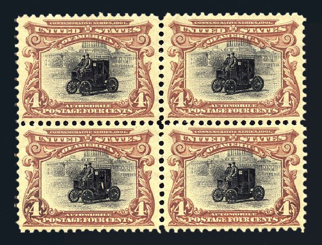 Value of US Stamps Scott Cat. 296 - 4c 1901 Pan American Exposition. Harmer-Schau Auction Galleries, Aug 2015, Sale 106, Lot 1727