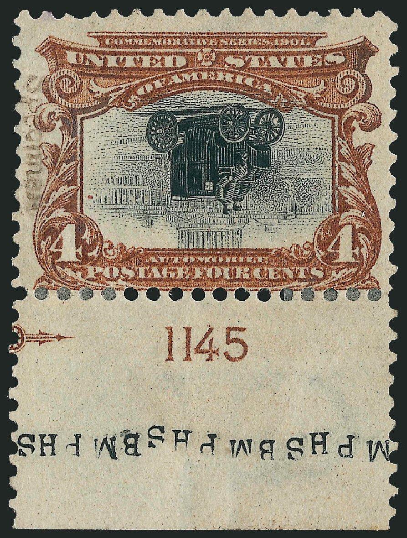 Costs of US Stamps Scott Cat. # 296: 1901 4c Pan American Exposition. Robert Siegel Auction Galleries, Jun 2015, Sale 1100, Lot 77