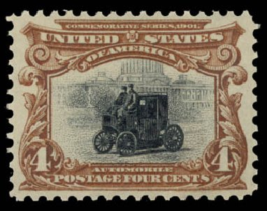 US Stamps Prices Scott Catalog #296 - 1901 4c Pan American Exposition. Daniel Kelleher Auctions, May 2015, Sale 669, Lot 2840