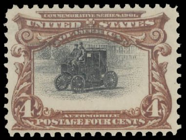 Cost of US Stamps Scott Catalog # 296 - 4c 1901 Pan American Exposition. Daniel Kelleher Auctions, Aug 2015, Sale 672, Lot 2600