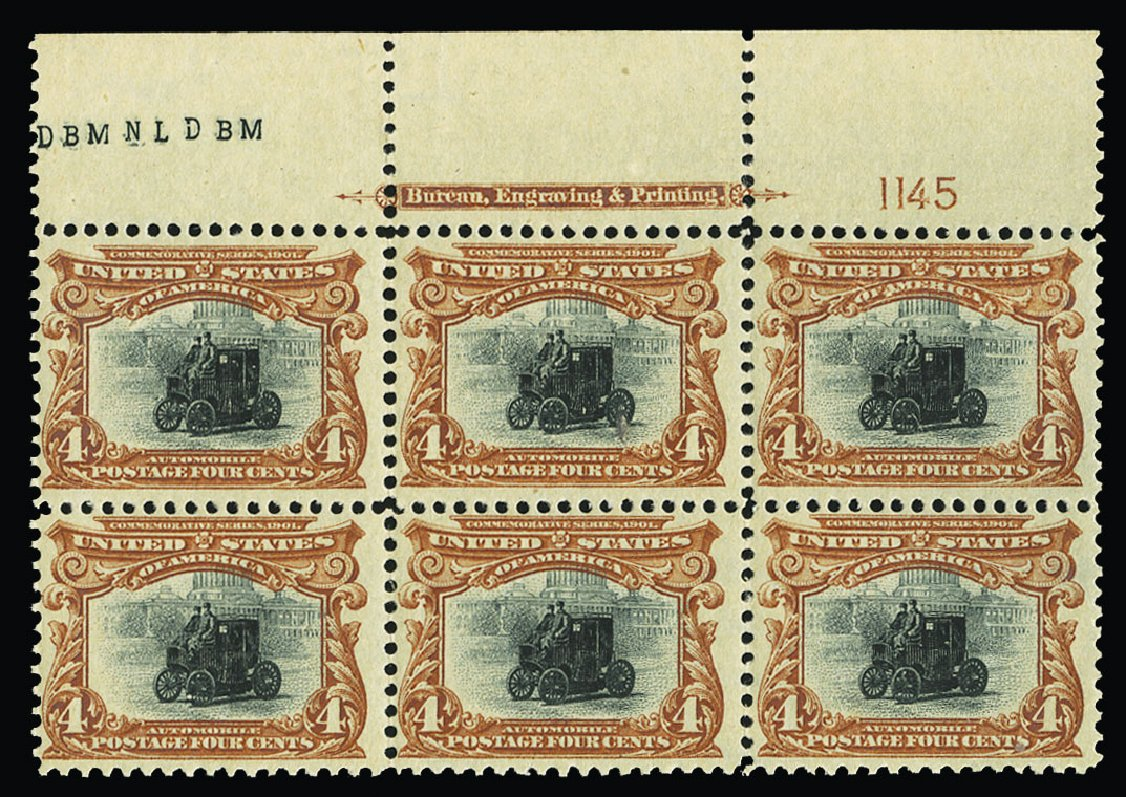 US Stamps Values Scott Catalogue #296: 1901 4c Pan American Exposition. Cherrystone Auctions, Jul 2015, Sale 201507, Lot 2101