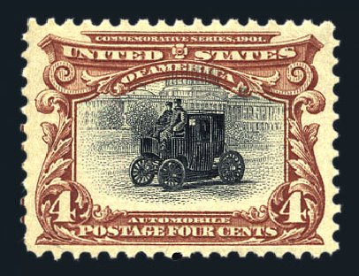 US Stamps Prices Scott Cat. # 296 - 4c 1901 Pan American Exposition. Harmer-Schau Auction Galleries, Aug 2015, Sale 106, Lot 1725