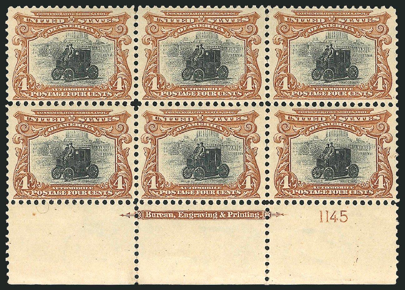 Cost of US Stamp Scott Catalogue #296: 4c 1901 Pan American Exposition. Robert Siegel Auction Galleries, Jun 2015, Sale 1100, Lot 72