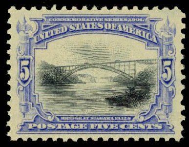 Price of US Stamps Scott 297: 1901 5c Pan American Exposition. Daniel Kelleher Auctions, Oct 2014, Sale 660, Lot 2297