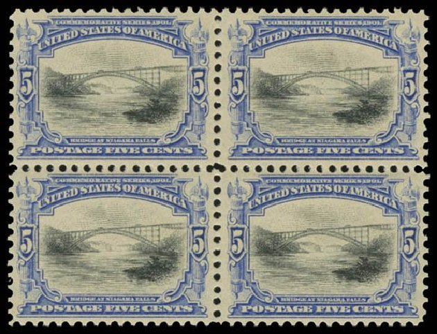 Prices of US Stamp Scott Catalog 297 - 5c 1901 Pan American Exposition. Daniel Kelleher Auctions, Oct 2014, Sale 660, Lot 2298