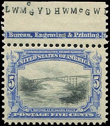 US Stamps Prices Scott Catalog 297 - 5c 1901 Pan American Exposition. Regency-Superior, Nov 2014, Sale 108, Lot 638