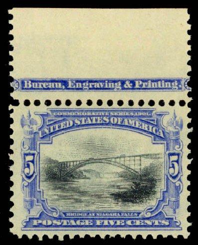 US Stamps Value Scott # 297: 5c 1901 Pan American Exposition. Daniel Kelleher Auctions, Jan 2015, Sale 663, Lot 1589
