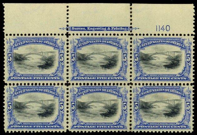 US Stamps Price Scott Cat. # 297: 1901 5c Pan American Exposition. Daniel Kelleher Auctions, Jan 2015, Sale 663, Lot 1591
