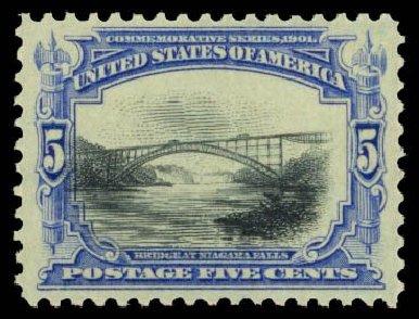 Prices of US Stamps Scott Catalog # 297 - 5c 1901 Pan American Exposition. Daniel Kelleher Auctions, Dec 2014, Sale 661, Lot 264