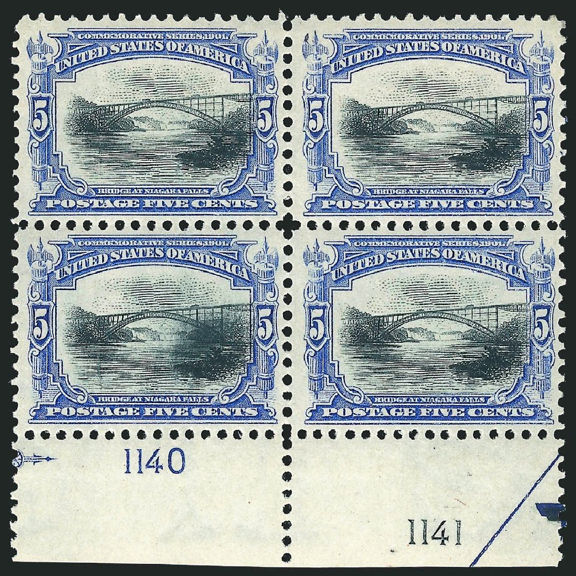 US Stamp Prices Scott Cat. #297 - 5c 1901 Pan American Exposition. Robert Siegel Auction Galleries, Jul 2014, Sale 1077, Lot 214