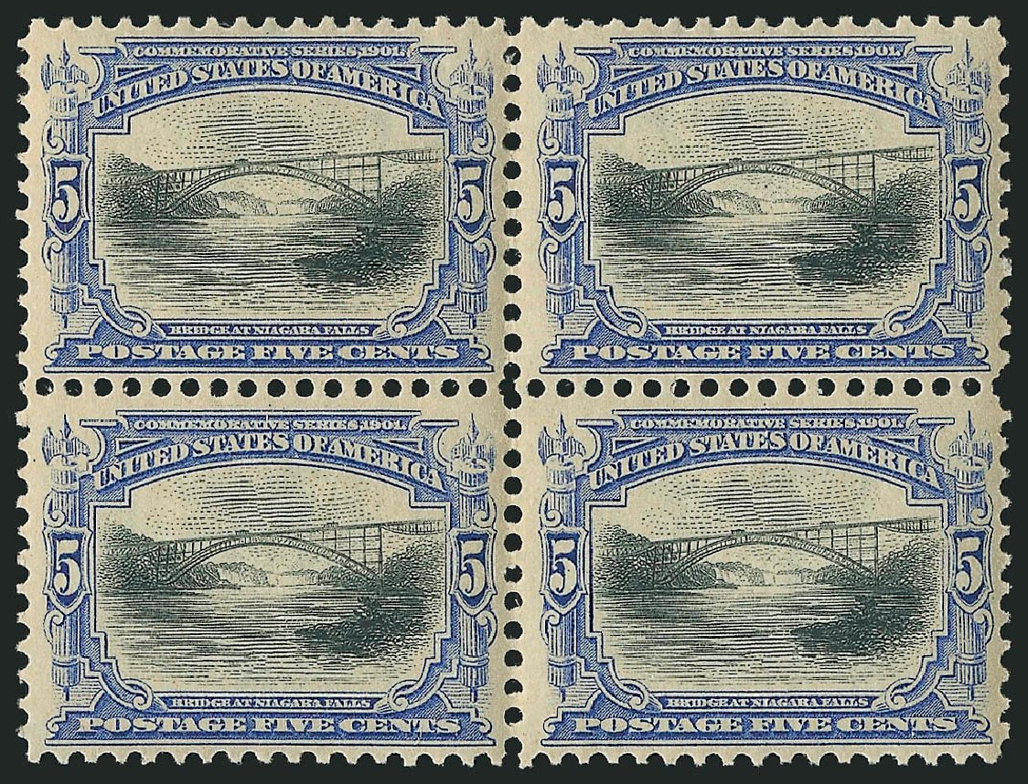 US Stamps Value Scott Catalog #297 - 1901 5c Pan American Exposition. Robert Siegel Auction Galleries, Apr 2015, Sale 1096, Lot 524