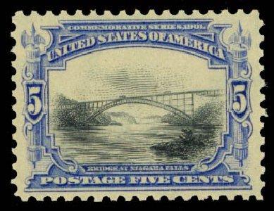 US Stamp Prices Scott Catalogue # 297 - 1901 5c Pan American Exposition. Daniel Kelleher Auctions, Oct 2014, Sale 660, Lot 2295
