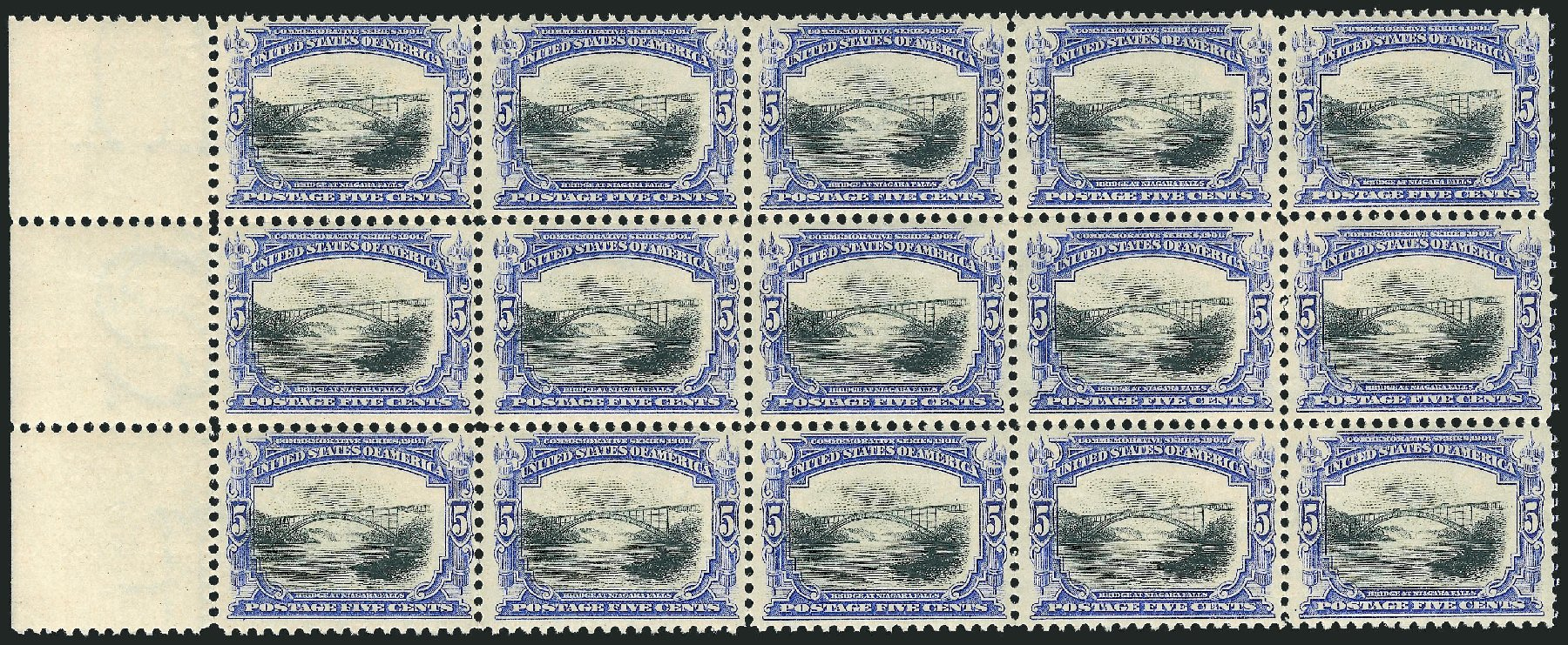 Values of US Stamps Scott Catalogue #297 - 1901 5c Pan American Exposition. Robert Siegel Auction Galleries, Feb 2015, Sale 1092, Lot 1255
