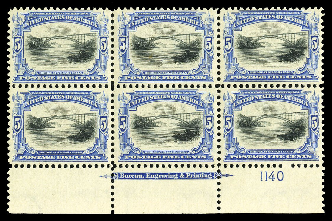 Values of US Stamp Scott Catalog 297: 5c 1901 Pan American Exposition. Cherrystone Auctions, Jul 2015, Sale 201507, Lot 2102