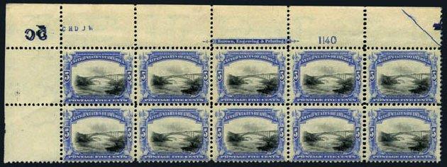 US Stamp Value Scott #297: 1901 5c Pan American Exposition. Harmer-Schau Auction Galleries, Aug 2014, Sale 102, Lot 1953