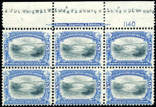 US Stamps Values Scott # 297: 1901 5c Pan American Exposition. Schuyler J. Rumsey Philatelic Auctions, Apr 2015, Sale 60, Lot 2893