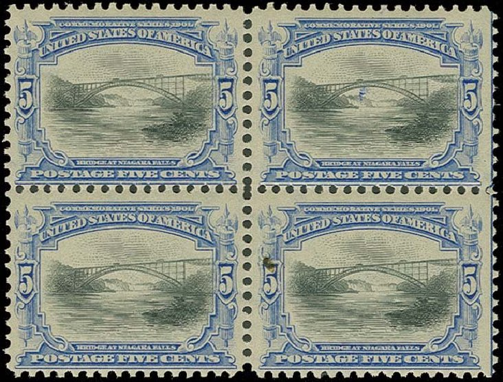 US Stamp Value Scott Catalog # 297 - 1901 5c Pan American Exposition. H.R. Harmer, Oct 2014, Sale 3006, Lot 1306