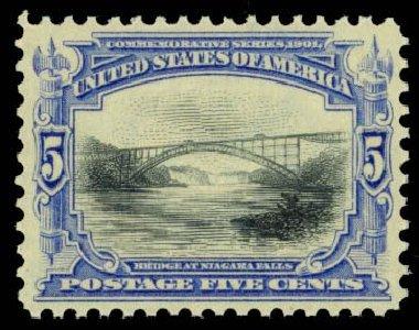 US Stamps Values Scott Cat. 297 - 1901 5c Pan American Exposition. Daniel Kelleher Auctions, Oct 2014, Sale 660, Lot 2296