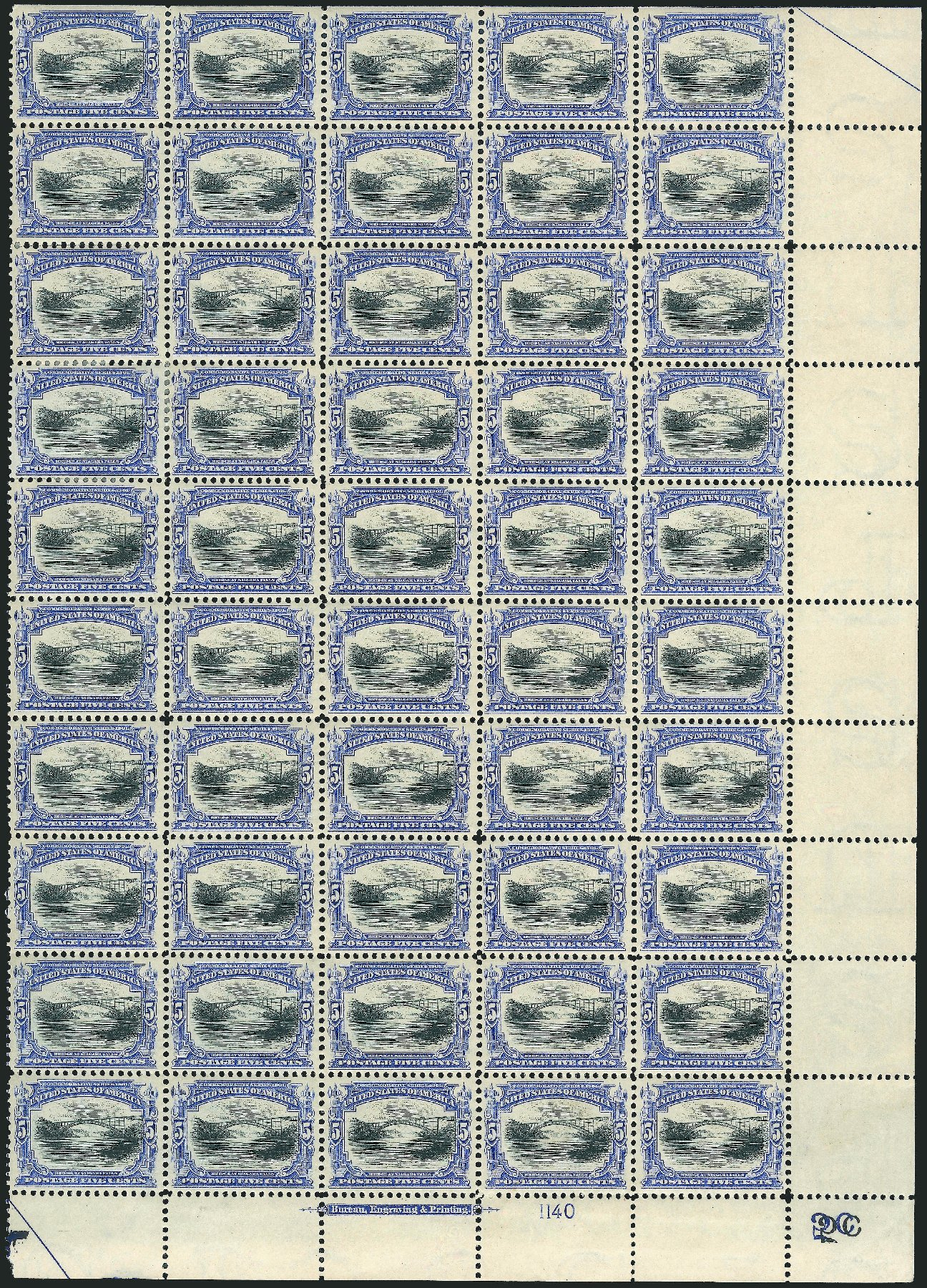 Values of US Stamps Scott #297: 1901 5c Pan American Exposition. Robert Siegel Auction Galleries, Feb 2015, Sale 1092, Lot 1256
