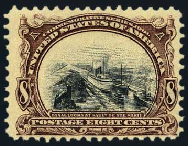 Value of US Stamp Scott Catalog #298 - 8c 1901 Pan American Exposition. Harmer-Schau Auction Galleries, May 2015, Sale 105, Lot 154
