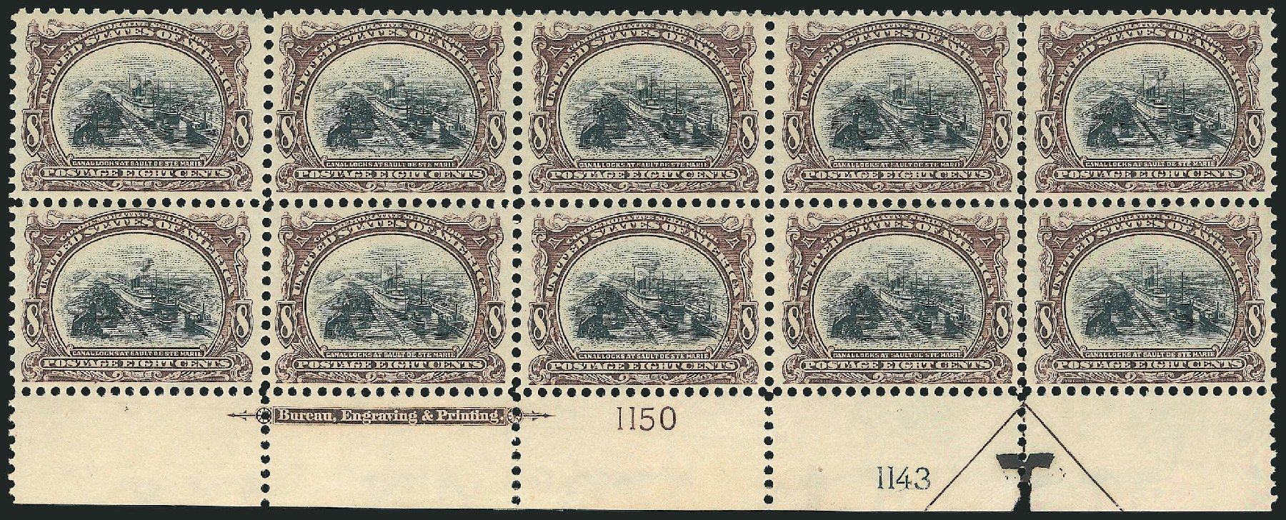 Values of US Stamps Scott Catalog #298: 1901 8c Pan American Exposition. Robert Siegel Auction Galleries, Jun 2015, Sale 1100, Lot 74