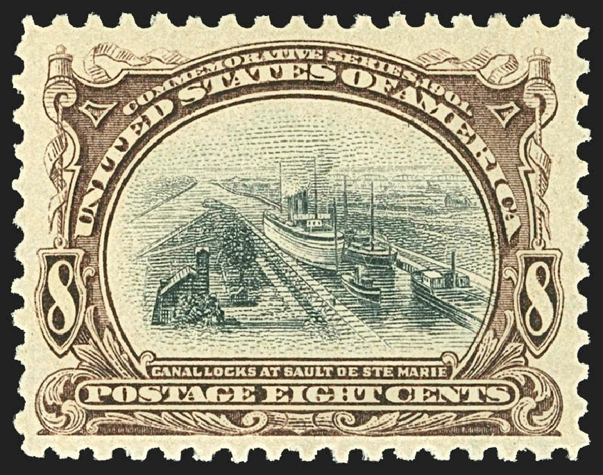 Values of US Stamp Scott # 298 - 1901 8c Pan American Exposition. Robert Siegel Auction Galleries, Jul 2015, Sale 1107, Lot 405