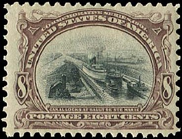 Costs of US Stamps Scott Cat. #298: 1901 8c Pan American Exposition. Regency-Superior, Aug 2015, Sale 112, Lot 642