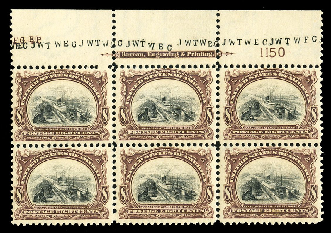 Cost of US Stamp Scott Cat. #298 - 8c 1901 Pan American Exposition. Cherrystone Auctions, Jul 2015, Sale 201507, Lot 2103