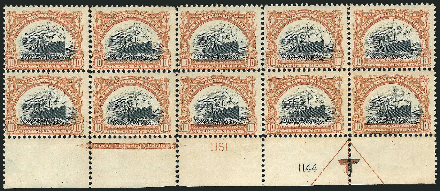 Costs of US Stamps Scott Catalog # 299 - 1901 10c Pan American Exposition. Robert Siegel Auction Galleries, Apr 2015, Sale 1096, Lot 528