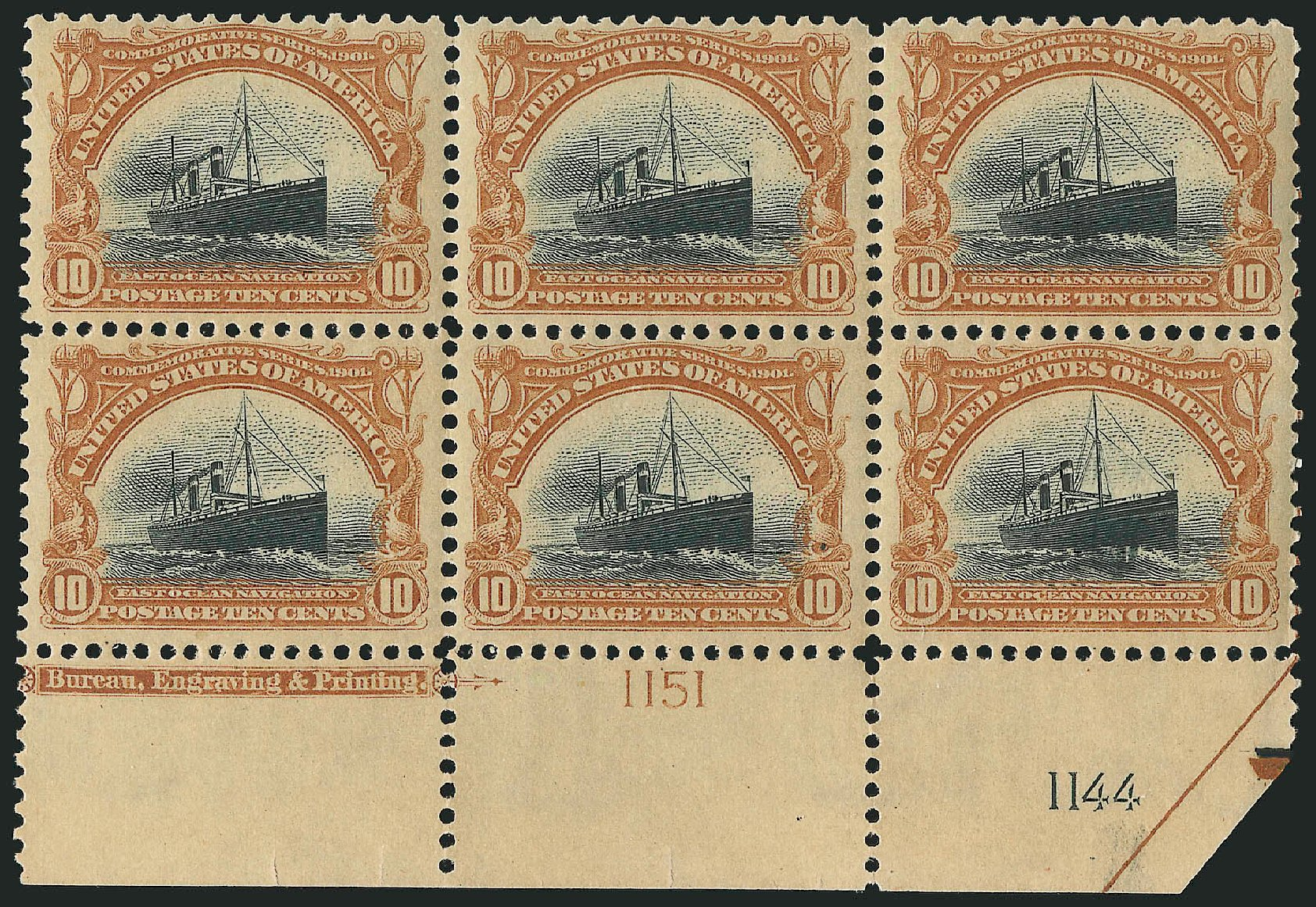 US Stamp Values Scott Cat. 299: 1901 10c Pan American Exposition. Robert Siegel Auction Galleries, Apr 2015, Sale 1096, Lot 529