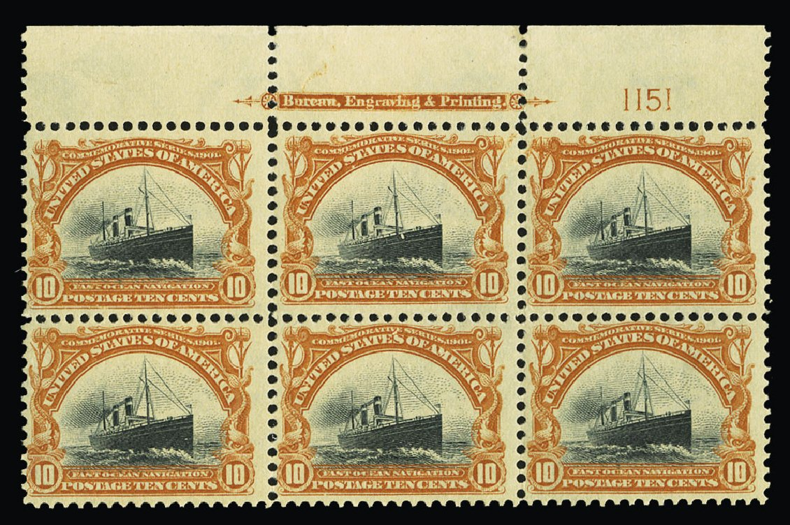 Prices of US Stamp Scott Cat. 299 - 1901 10c Pan American Exposition. Cherrystone Auctions, Jul 2015, Sale 201507, Lot 2104