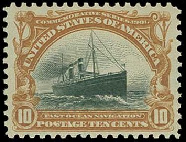 US Stamp Value Scott Catalog # 299: 1901 10c Pan American Exposition. H.R. Harmer, Jun 2015, Sale 3007, Lot 3294