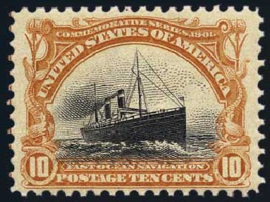 Price of US Stamps Scott Catalog 299 - 1901 10c Pan American Exposition. Harmer-Schau Auction Galleries, May 2015, Sale 105, Lot 155