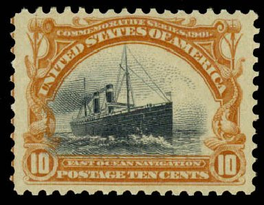 US Stamp Prices Scott Cat. #299 - 10c 1901 Pan American Exposition. Daniel Kelleher Auctions, Aug 2015, Sale 672, Lot 2602