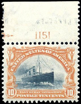 Costs of US Stamps Scott Catalog #299 - 1901 10c Pan American Exposition. Schuyler J. Rumsey Philatelic Auctions, Apr 2015, Sale 60, Lot 2776