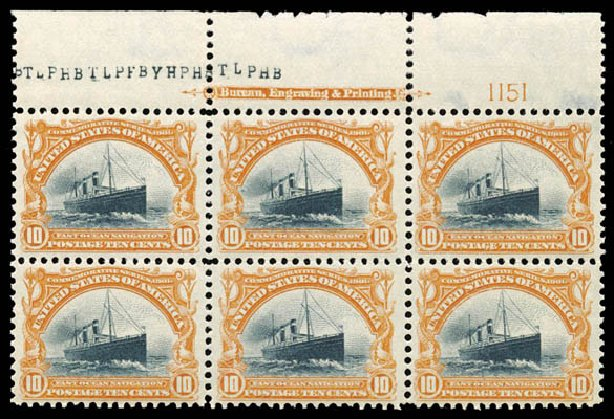Costs of US Stamps Scott Cat. 299: 10c 1901 Pan American Exposition. Schuyler J. Rumsey Philatelic Auctions, Apr 2015, Sale 60, Lot 2896