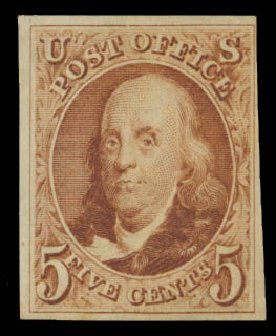 US Stamp Price Scott Catalog 3: 5c 1875 Franklin. Daniel Kelleher Auctions, Aug 2015, Sale 672, Lot 2105