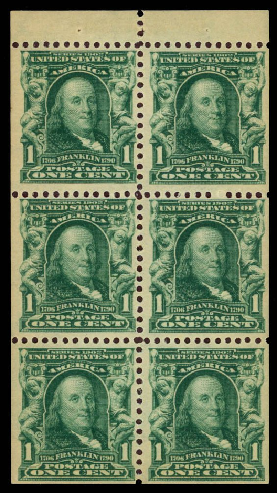 Value of US Stamp Scott Cat. #300: 1903 1c Franklin. Daniel Kelleher Auctions, Apr 2013, Sale 636, Lot 277